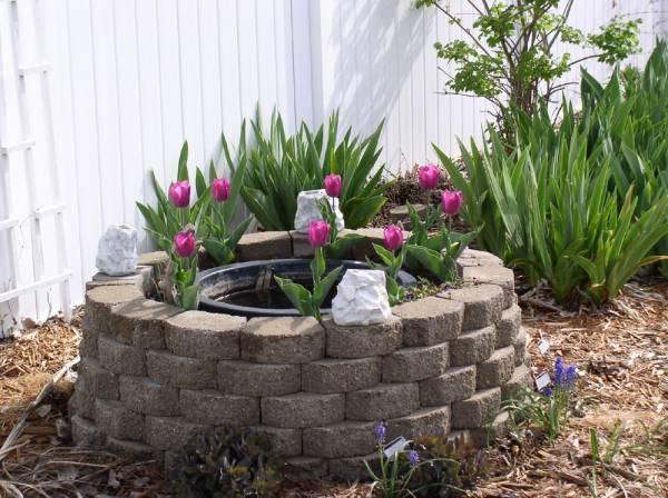 Retaining Wall Brick Fountain