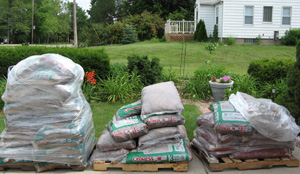I Had 60 Bags Of Mulch Delivered From Lowes This Morning