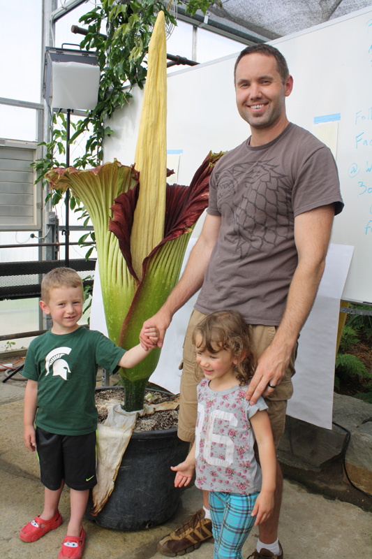 Corpse flower, for scale I'm 6'5.
